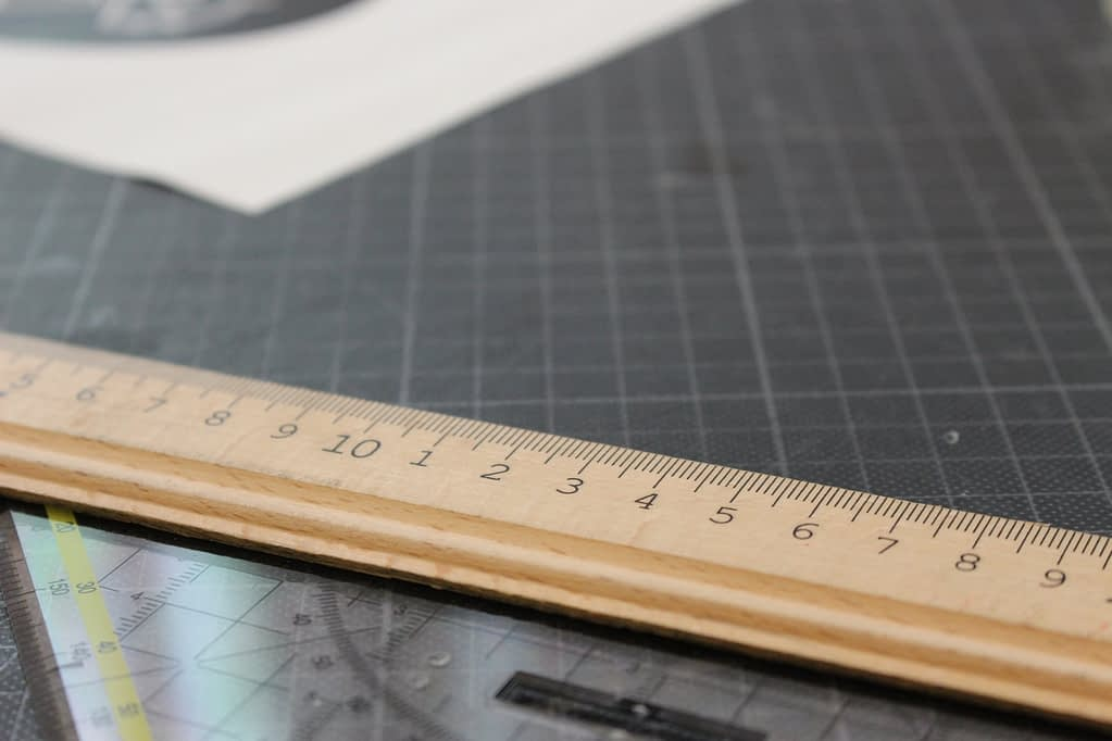 Drafting table with drafting tools