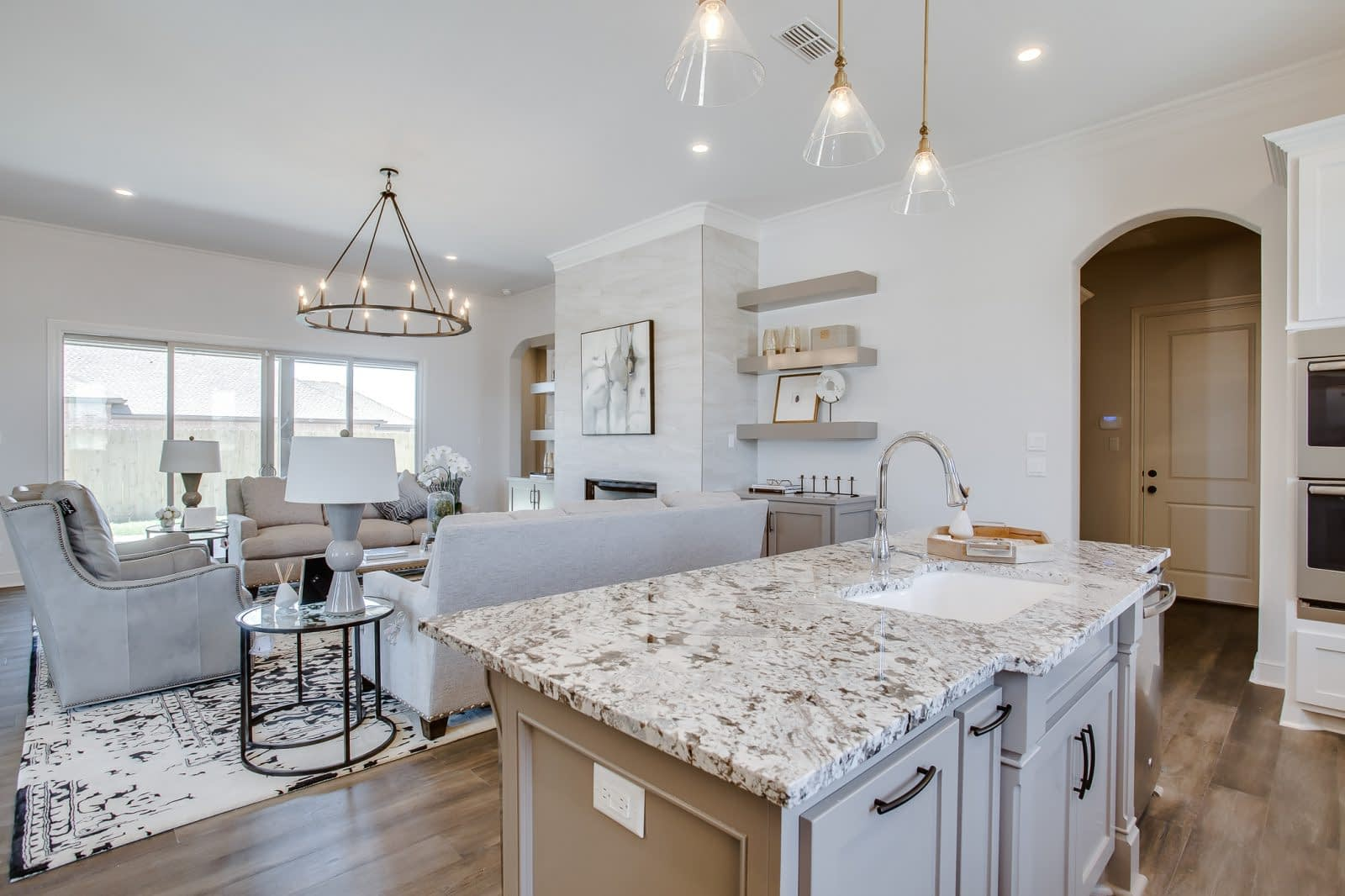 Custom Kitchen Overlooking Livingroom